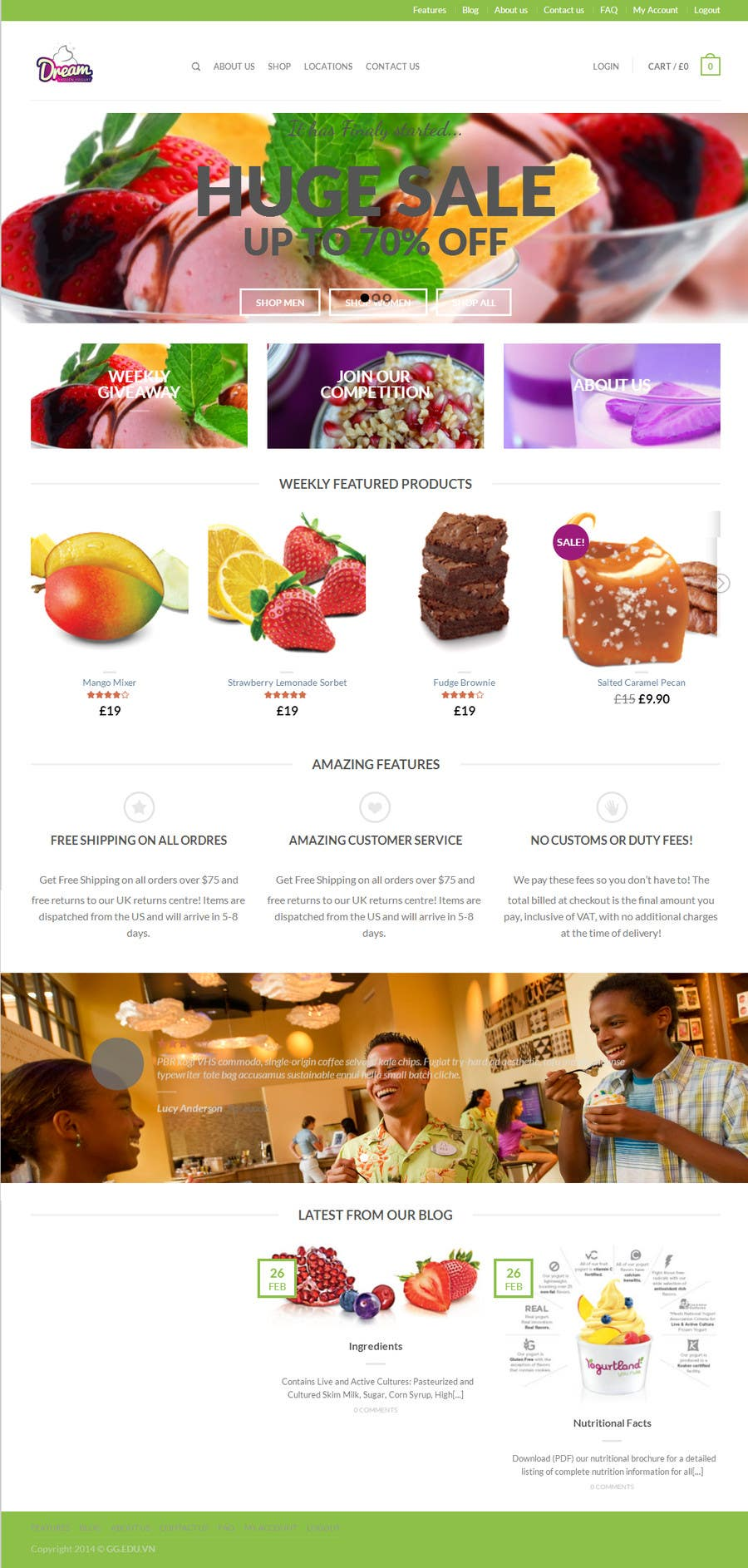 #10 for Yogurt website Home page by karlmc15