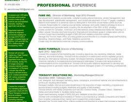#14 untuk convert my resume to an eye catching graphic resume oleh angelajohnson70