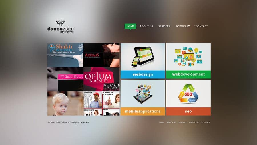 Design a Website Mockup for a Web Design Agency için 3 numaralı Yarışma Girdisi