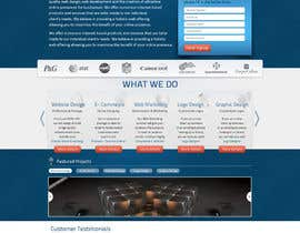nº 1 pour Design a Website Mockup for a Web Design Agency par WebInfoQuest
