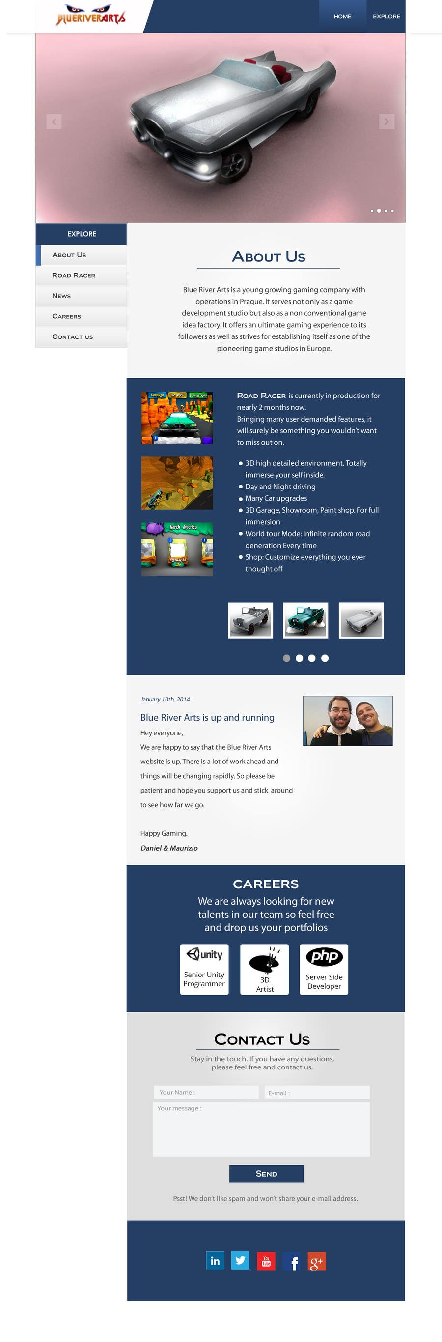 Konkurrenceindlæg #1 for Restyle Website for BlueRiverArts