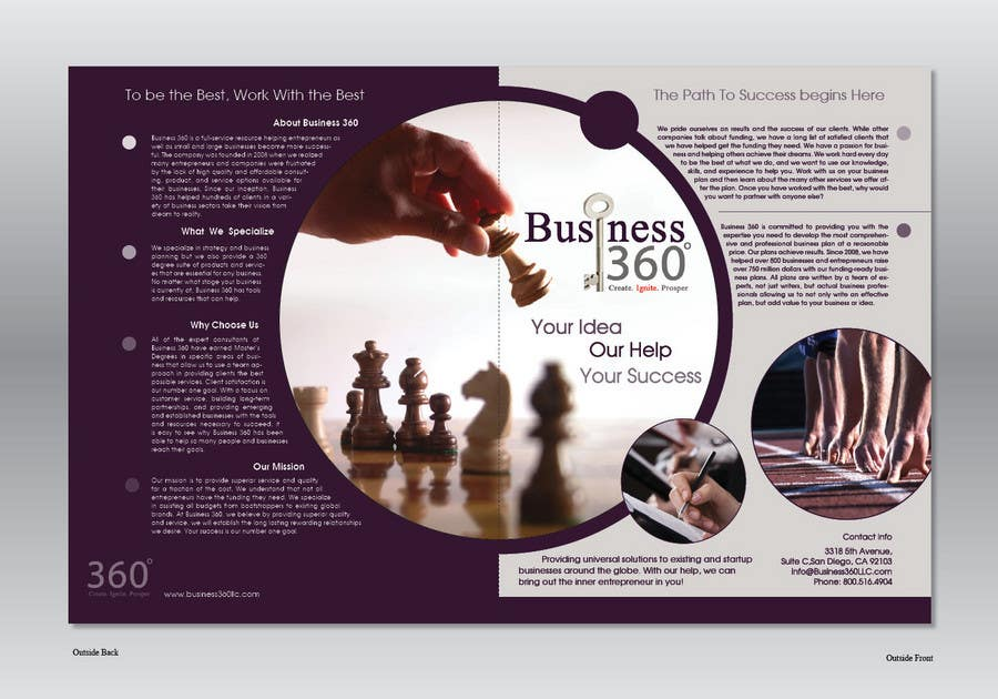 #29 for Brochure Design for Business 360 LLC by Ollive