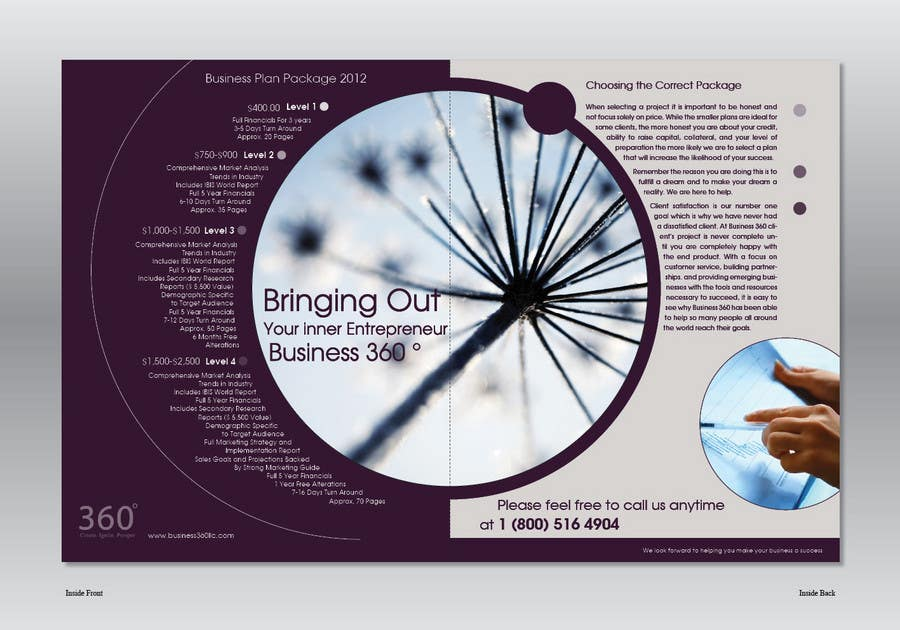#30 for Brochure Design for Business 360 LLC by Ollive