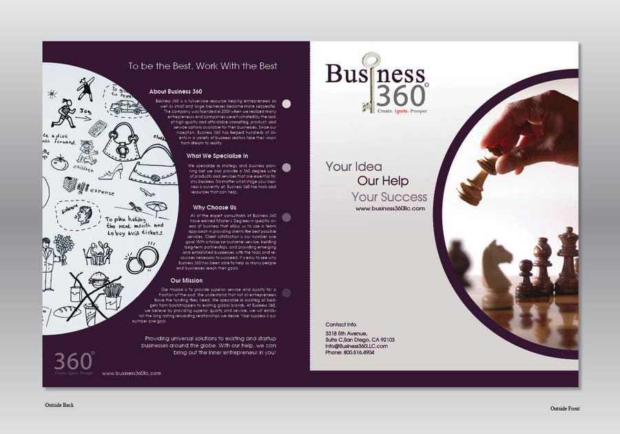 #49 for Brochure Design for Business 360 LLC by Ollive