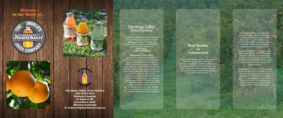 Konkurrenceindlæg #7 for Design a Brochure for Juice Company
