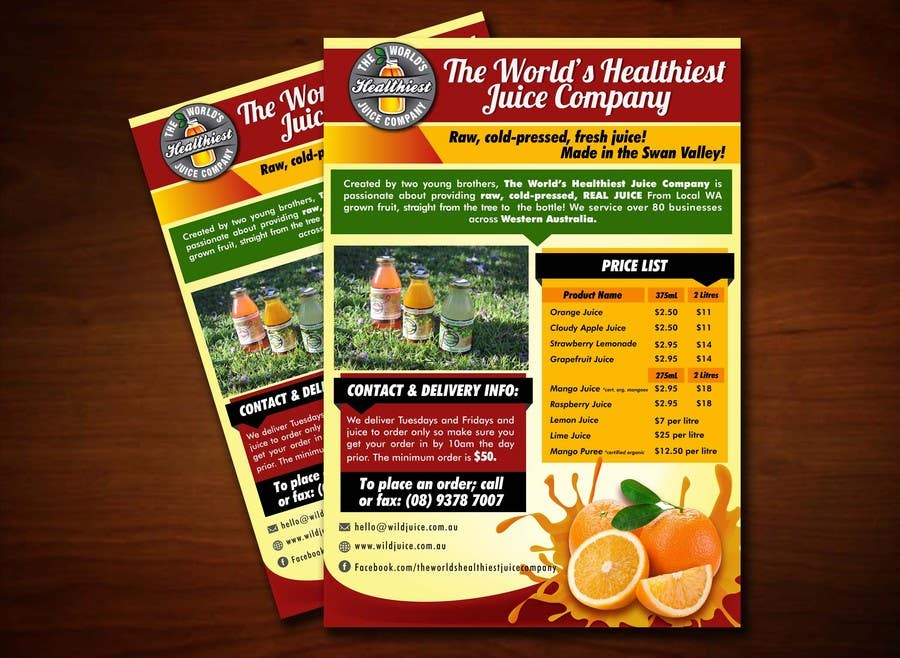 #4 for Design a Flyer for Juice Company by ushansam12