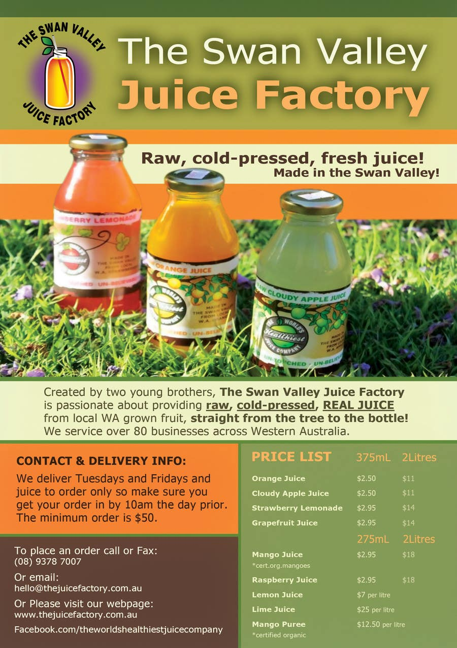 #11 for Design a Flyer for Juice Company by IreneSkywalker
