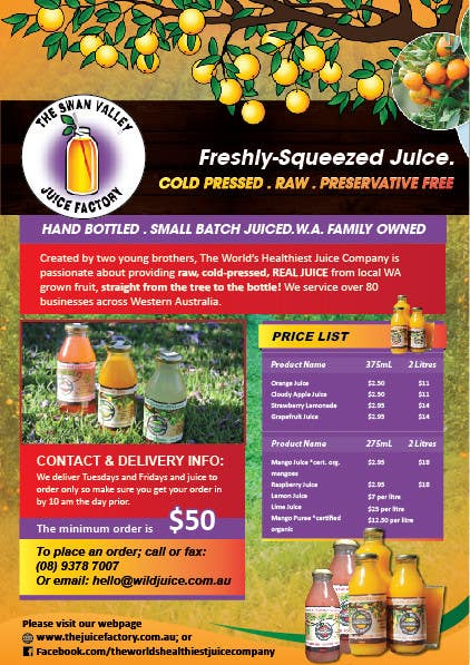 #14 for Design a Flyer for Juice Company by AchiverDesigner