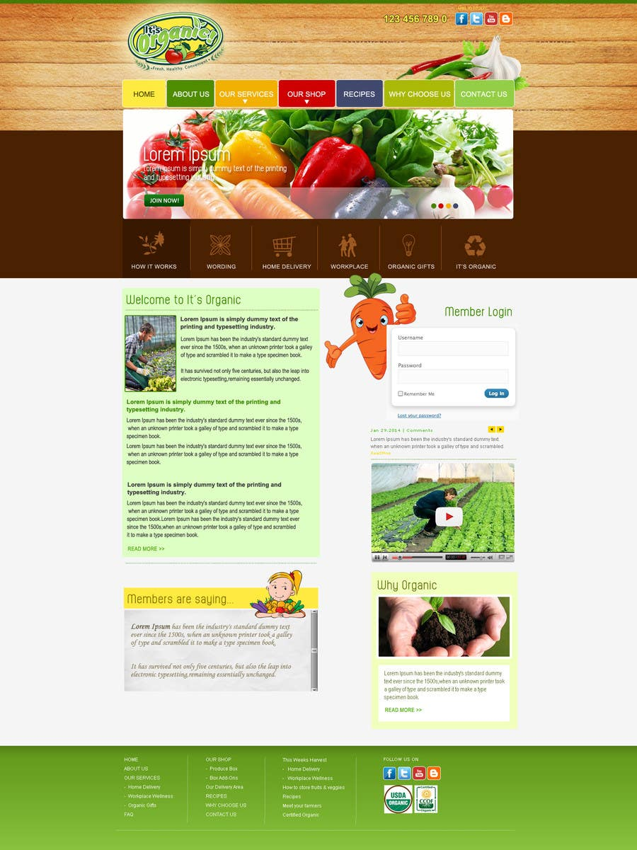 #12 for Wordpress Website Design by webmastersud