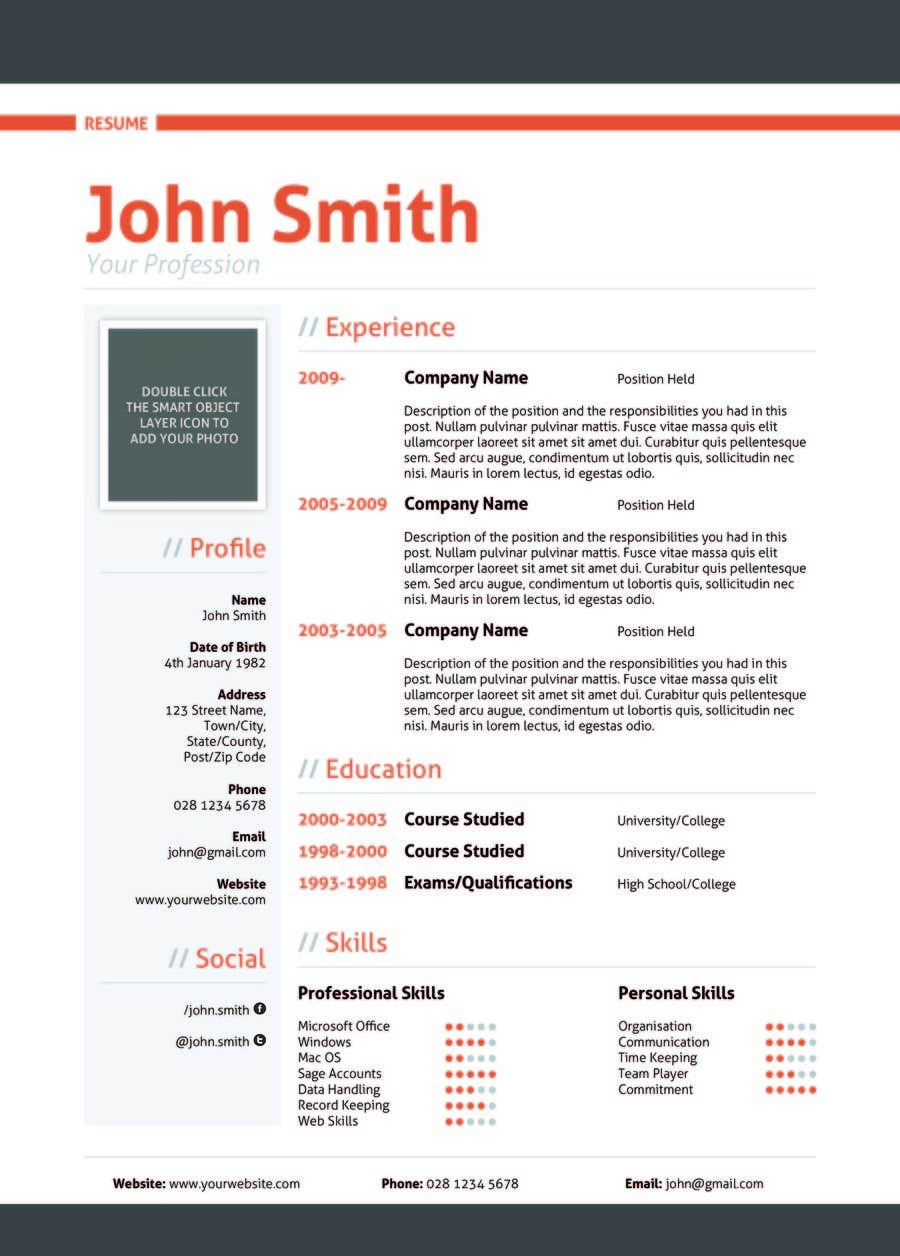 Contest Entry #28 for Resume templates