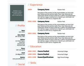 #28 for Resume templates by HoneyITSolution