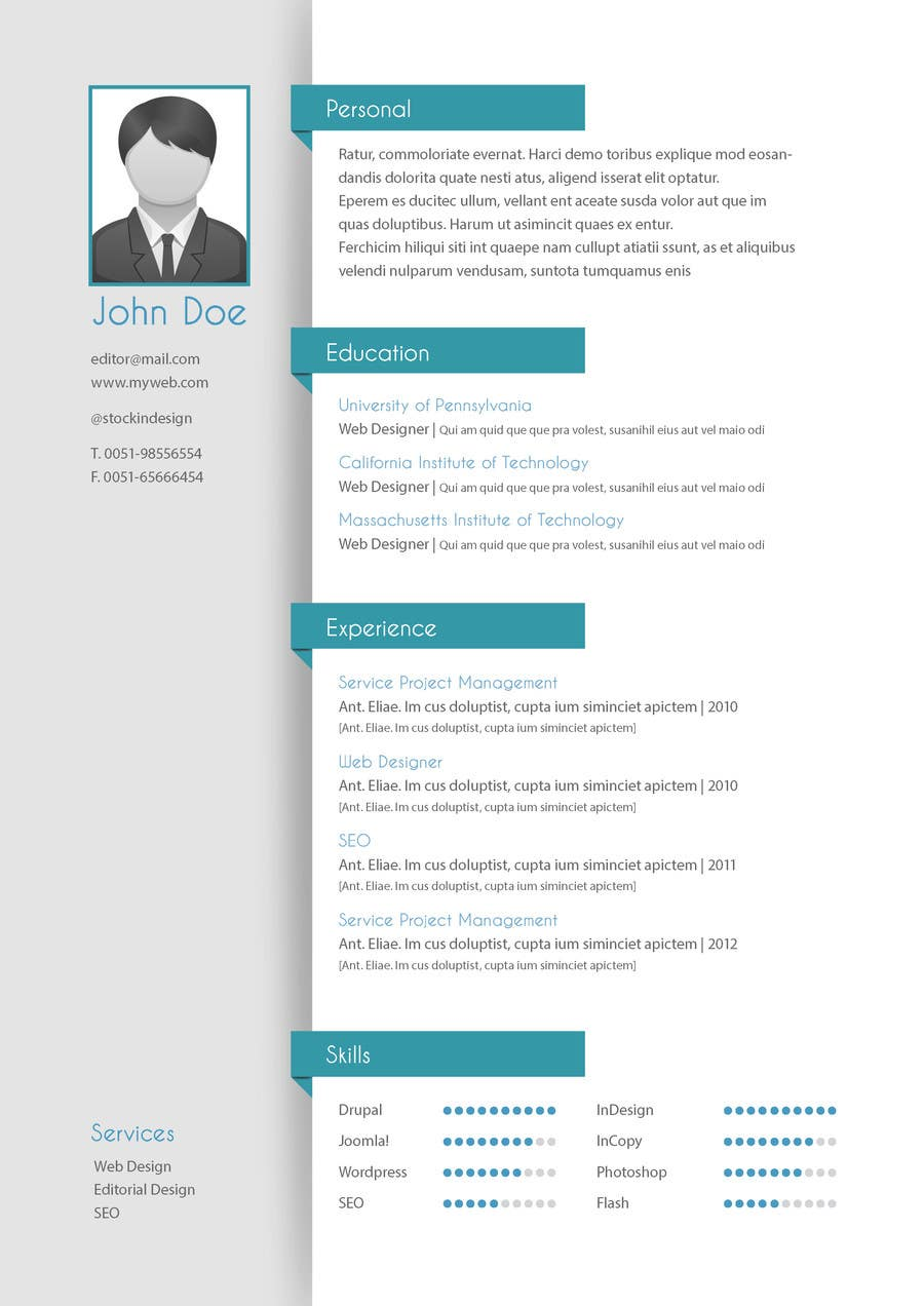 Konkurrenceindlæg #30 for Resume templates