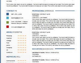 #20 for Resume templates by Qomar