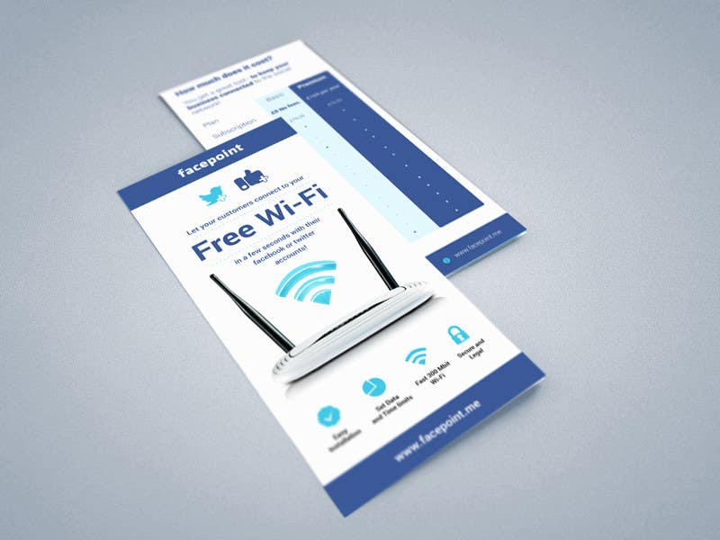 #25 for Design a Flyer for Facepoint Social Wi-Fi Router by aleksejspasibo