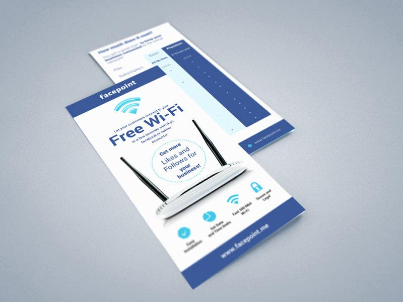 #26 for Design a Flyer for Facepoint Social Wi-Fi Router by aleksejspasibo