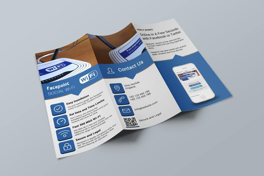 #27 for Design a Flyer for Facepoint Social Wi-Fi Router by stniavla