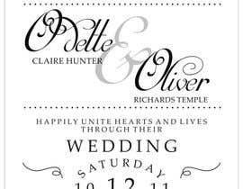 nº 39 pour ***VERY EASY** Design wedding invitations par Frieta