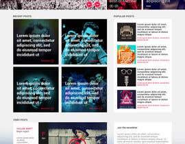 Nro 21 kilpailuun Bold-Dynamic-Creative Website Mockup Design For Karaoke Business That Pops For WordPress or PHP käyttäjältä suvenjitpal