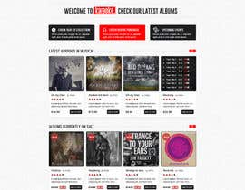 Kuzmanovic tarafından Bold-Dynamic-Creative Website Mockup Design For Karaoke Business That Pops For WordPress or PHP için no 1