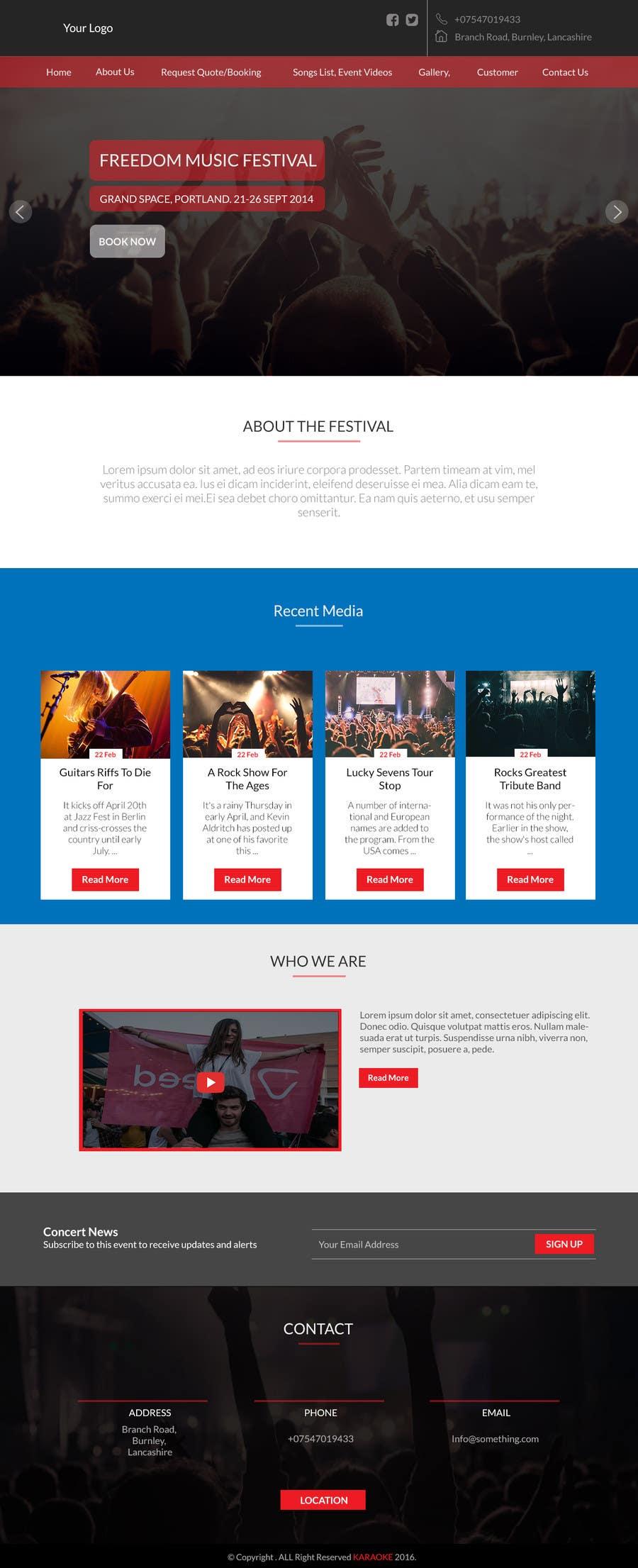 Entry 9 By Mockupmastr For Bold Dynamic Creative Website Mockup