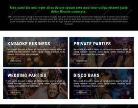 Nro 16 kilpailuun Bold-Dynamic-Creative Website Mockup Design For Karaoke Business That Pops For WordPress or PHP käyttäjältä viki001