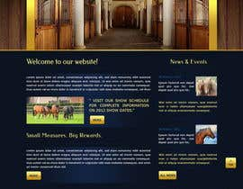 nº 21 pour Design a Website Mockup for Horse Stable par TemplateDigitale