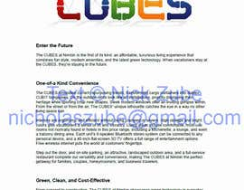 #10 for Content Writing for 'the CUBES' af nicholaszube