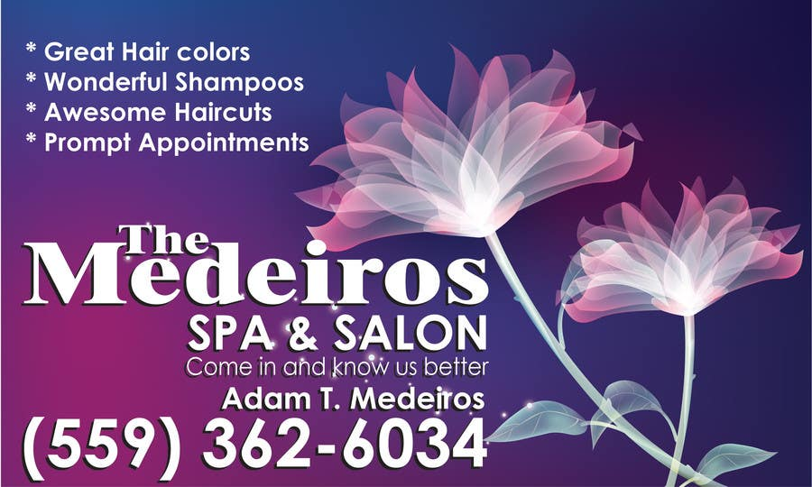 #131 for Design a Banner for a Salon and Spa by Sahir75