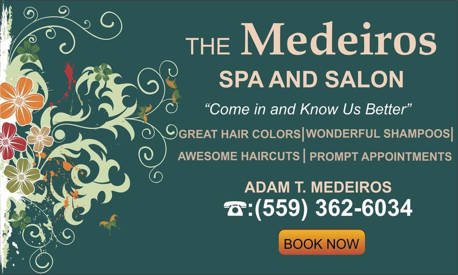 #140 for Design a Banner for a Salon and Spa by mansiartist1