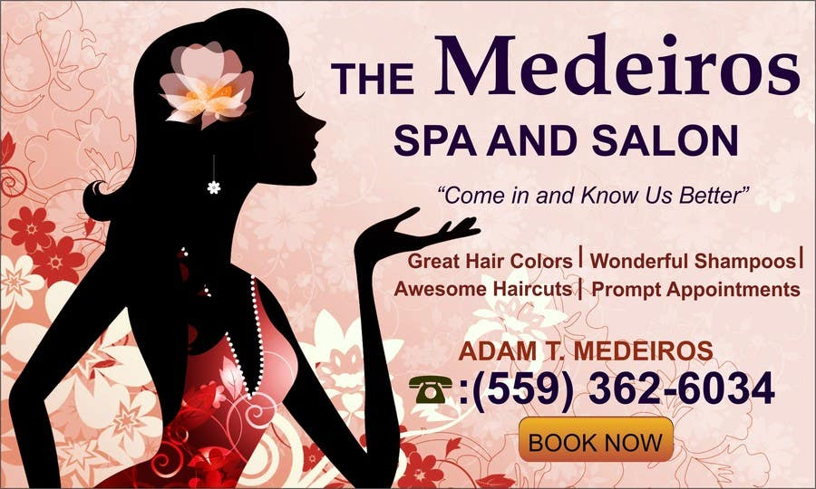 #148 for Design a Banner for a Salon and Spa by mansiartist1
