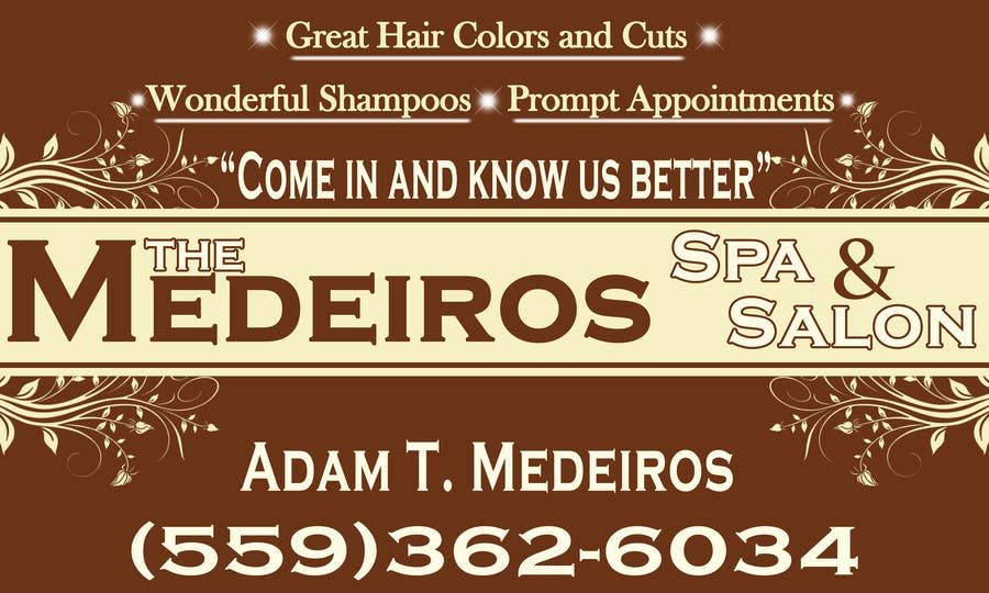 #155 for Design a Banner for a Salon and Spa by akritidas21