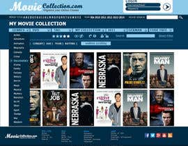 #25 para Design a Website Mockup for online movie collection por Ashleyperez