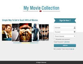 #21 para Design a Website Mockup for online movie collection por manishb1