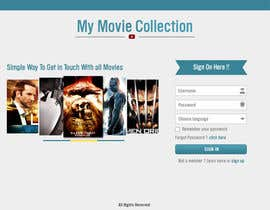 #28 para Design a Website Mockup for online movie collection por manishb1