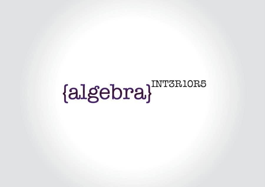Inscrição nº 230 do Concurso para Logo Design for Algebra Interiors