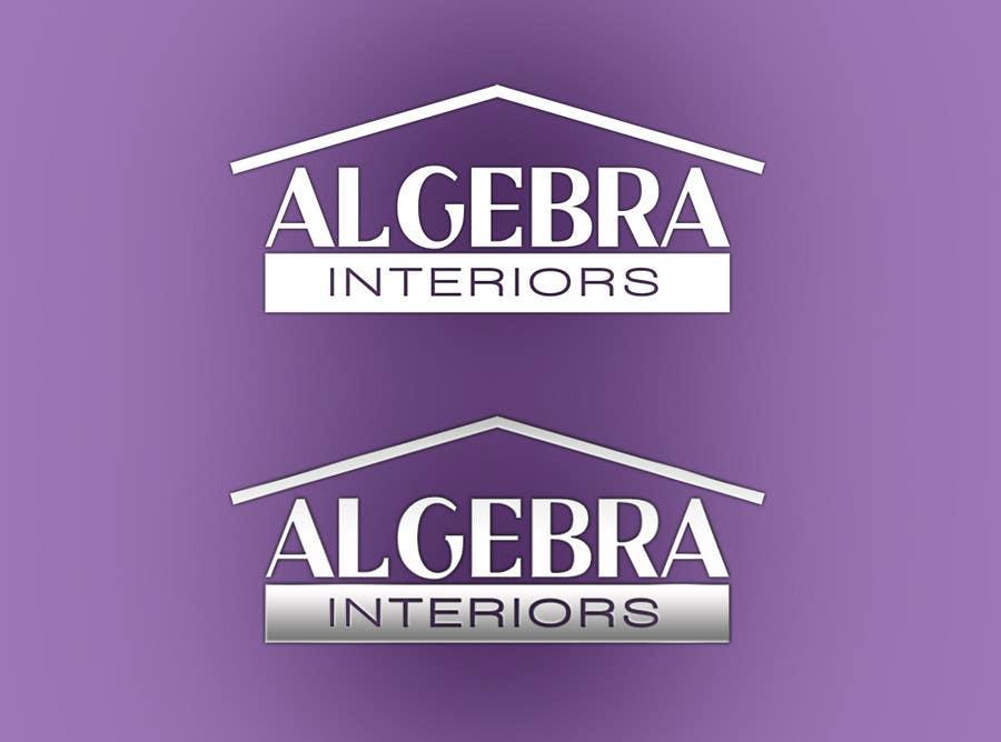 Penyertaan Peraduan #62 untuk Logo Design for Algebra Interiors