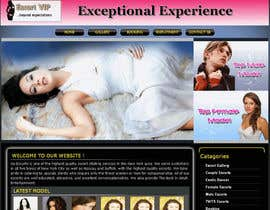 nº 12 pour Design web page for scorts woman (XXX) par franso82