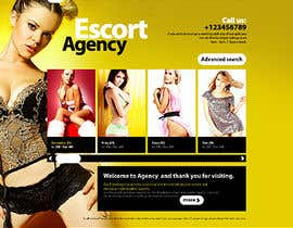 nº 14 pour Design web page for scorts woman (XXX) par solutionsbridge