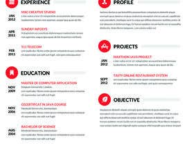 nº 7 pour Designing a template for resume (curriculum) par fo2shawy001