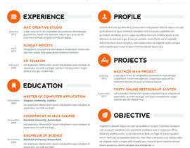nº 8 pour Designing a template for resume (curriculum) par fo2shawy001