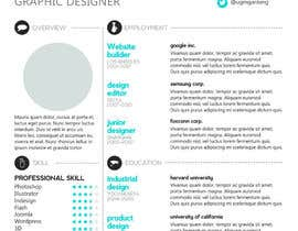 nº 12 pour Designing a template for resume (curriculum) par fo2shawy001