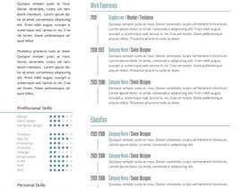 #19 for Designing a template for resume (curriculum) af fo2shawy001