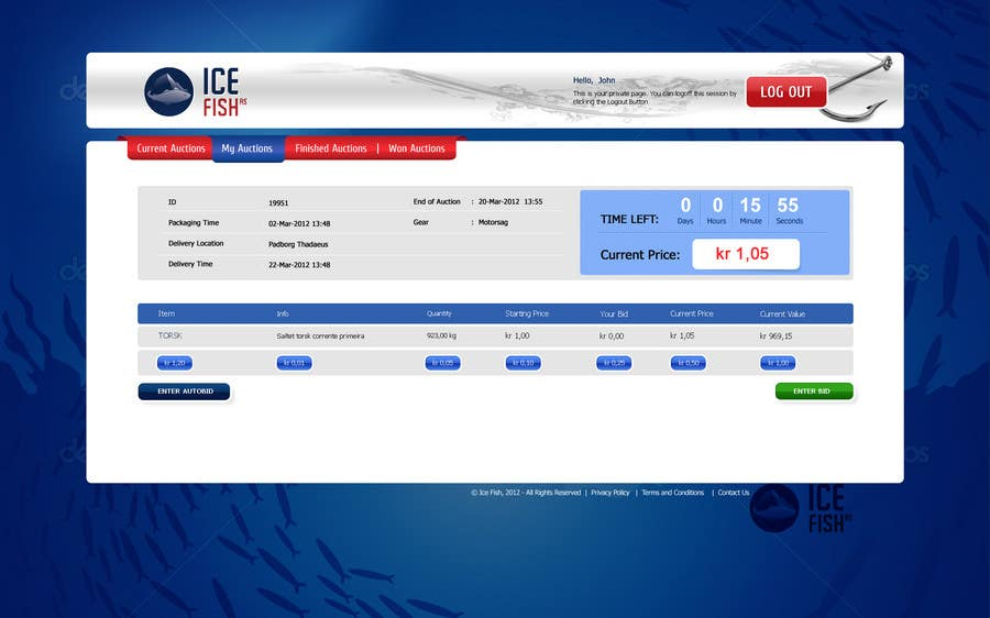 Inscrição nº 17 do Concurso para Website Design for Ice Fish AS