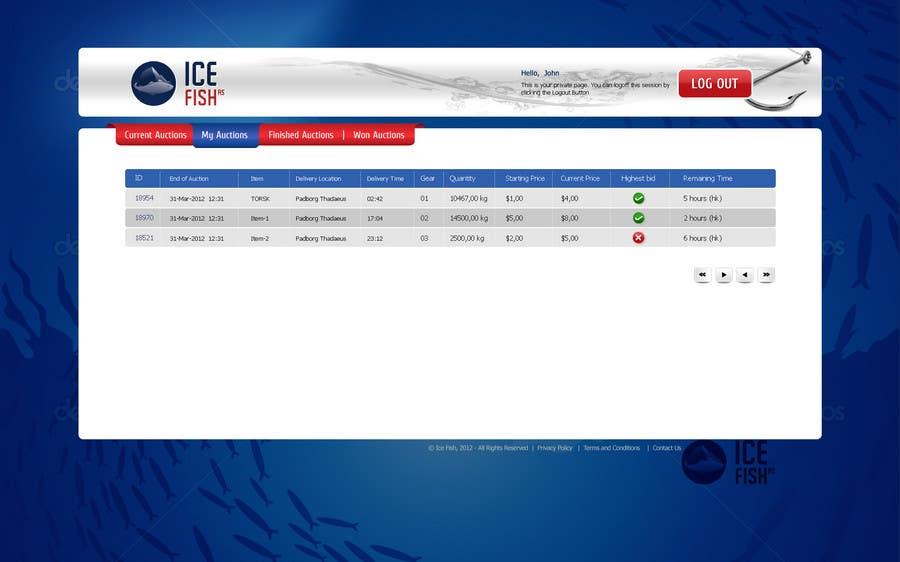 Inscrição nº 10 do Concurso para Website Design for Ice Fish AS