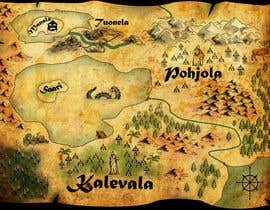 nº 1 pour FUN JOB: Illustrate a map for a Fantasy game based in old mythology par paulmage2