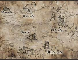 nº 8 pour FUN JOB: Illustrate a map for a Fantasy game based in old mythology par abdolilustrador