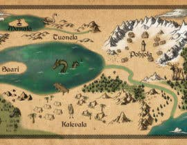 nº 5 pour FUN JOB: Illustrate a map for a Fantasy game based in old mythology par aliremo
