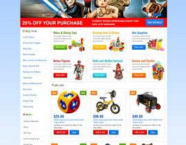 nº 15 pour Design website for toyshop par TemplateDigitale