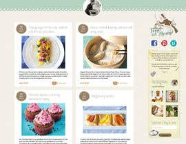 #19 for Design a website mockup for my foodblog (2 pages) by annahavana