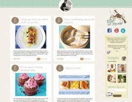 nº 19 pour Design a website mockup for my foodblog (2 pages) par annahavana